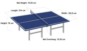 table tennis player & equipment